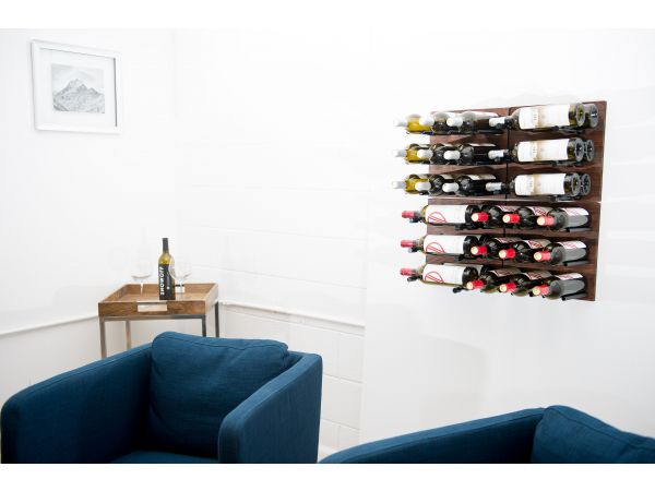 Grain + Rod: Metal and wine blended wine rack panels
