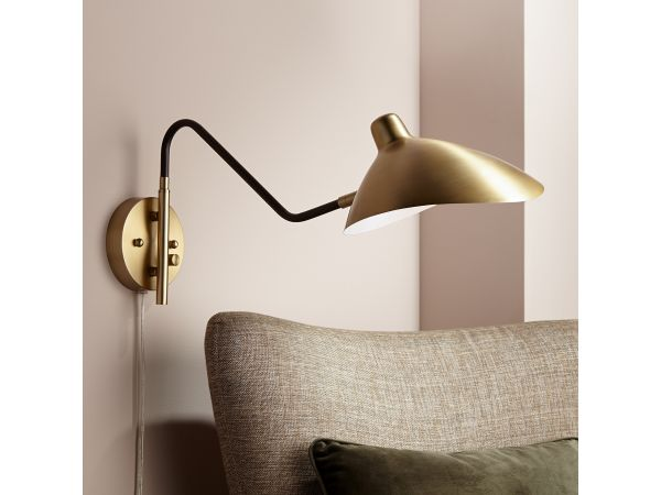 Colborne Plug-In Swing Arm Wall Lamp