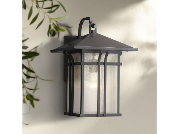 Syon Bronze and Glass Outdoor Wall Light
