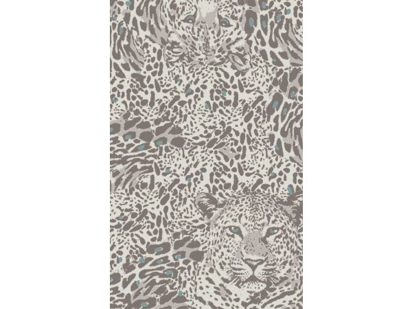 Illusion Leopard Blue Taupe
