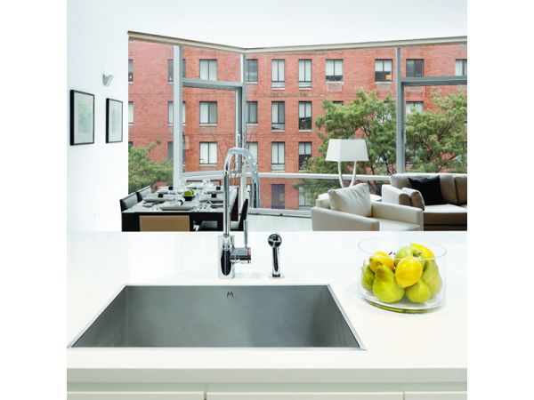 Louvre Low Profile Flush-Mount Kitchen and Bath Sinks