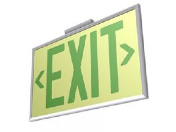 UL 924 Photoluminescent Exit Sign with Frame
