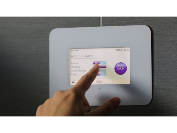 iSteam Swipe-Touch Steam Shower Control Panel