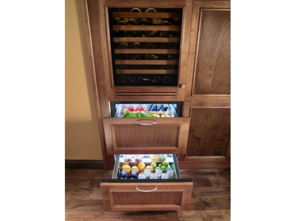 True Undercounter Refrigerator Drawers - Overlay Panel