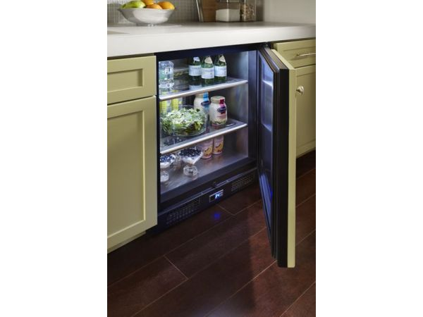 True Undercounter Refrigerator Solid Door Overlay Panel Inside view