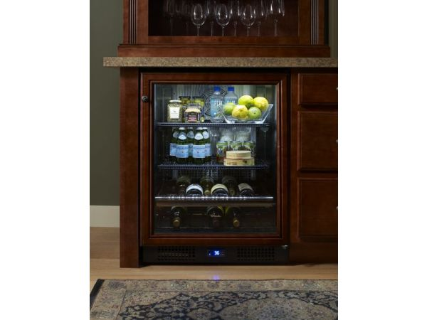 True 24-inch Beverage Center - Framed Panel Overlay