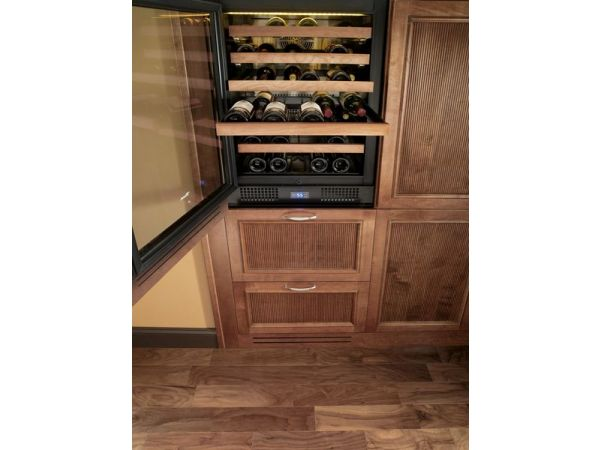 True Dual Zone Wine Cabinet Overlay Framed Panel