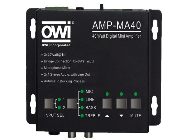AMP-MA40IR Small Class D Digital Amplifier