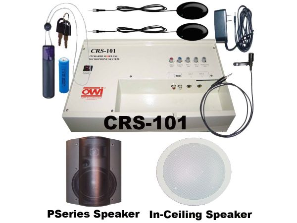 CRS-101 Infrared Wireless Microphone System