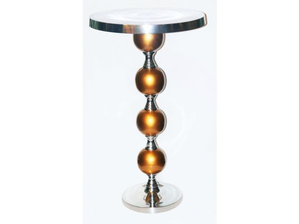 Jewel-Gold Highboy Table