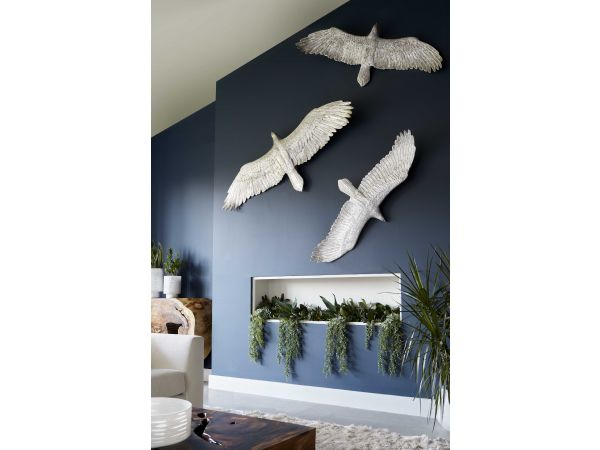 Eagle Wall Decor, Silver Leaf