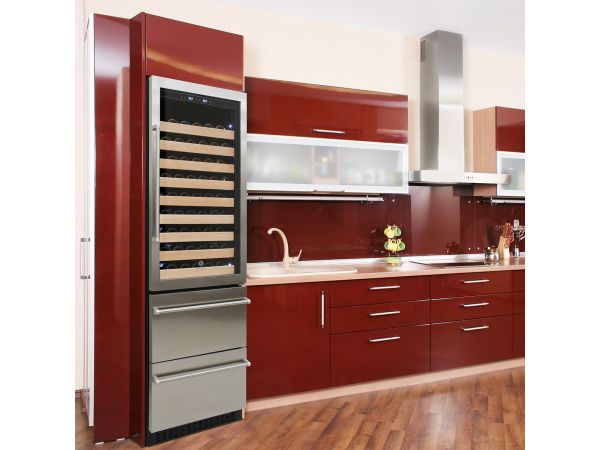 Wine Refrigerator with Beverage Drawer