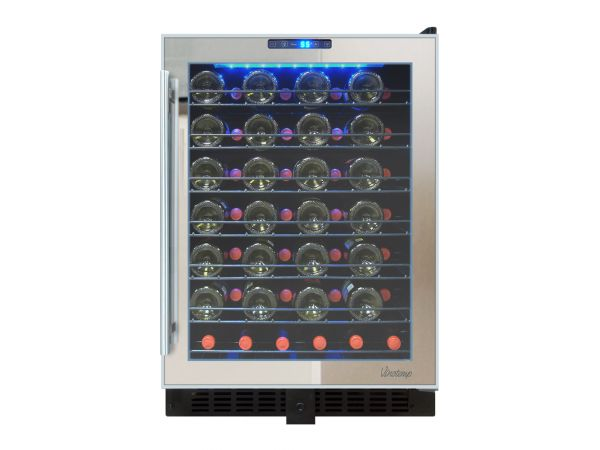 NEW: Vinotemp 54-Bottle Touch Screen Mirrored Wine Cooler