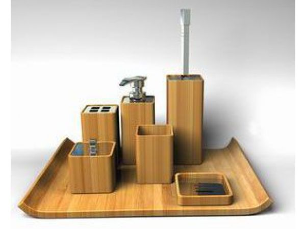 Bamboo Bath Set - Sleek Design