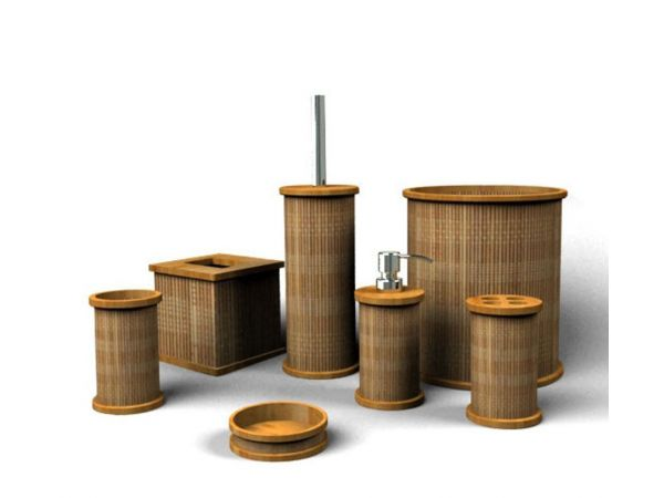Bamboo Bath Set - Woven Design