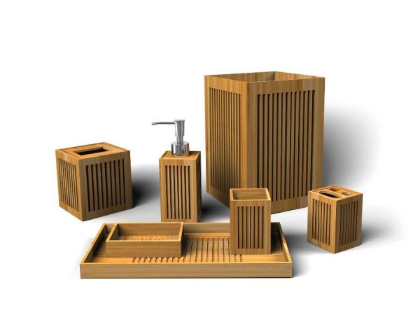 Bamboo Bath Set
