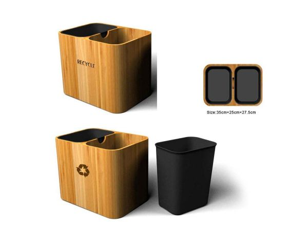 Bamboo Recycle Bins