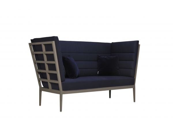 Slant High Back 2 Seat Settee