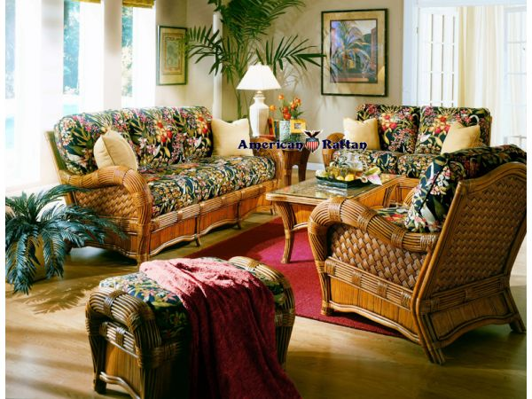 Kingston Reef Wicker Rattan Living Room Group