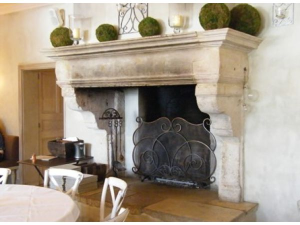 ANTIQUE FRENCH LIMESTONE FIREPLACE MANTELS