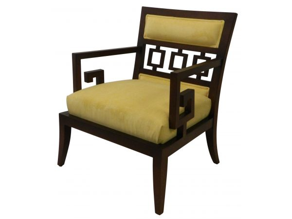 Brookline's  Greek Key Occasional Chair