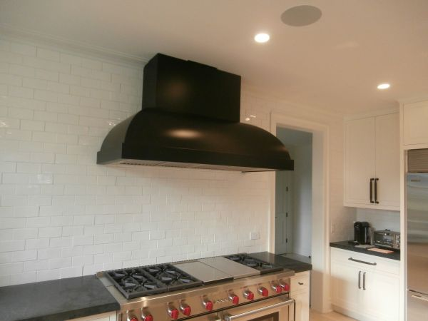 Blackened Steel Range Hood