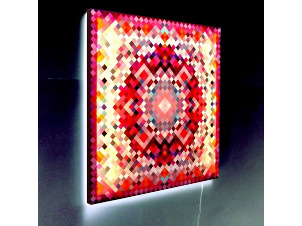 Pixel Tapestry Glo Canvas (Red)