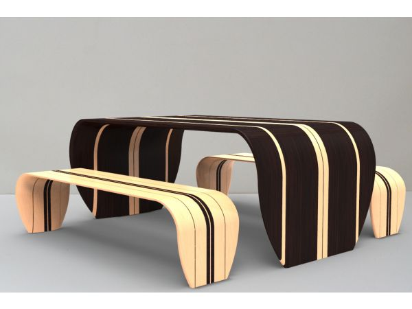 Surf-ace Table and Bench