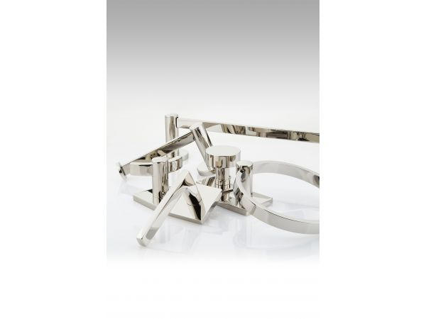 DECORATIVE DOOR AND BATH HARDWARE IN POLISHED NICKEL - LIFETIME FINISH