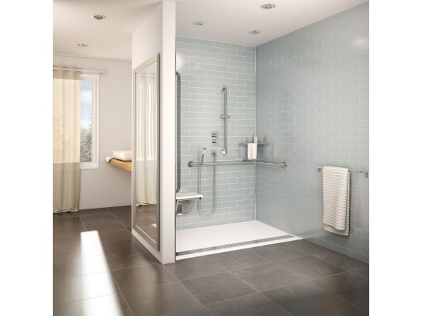 FLEURCO ADaptek: ADA compliant roll-in shower base