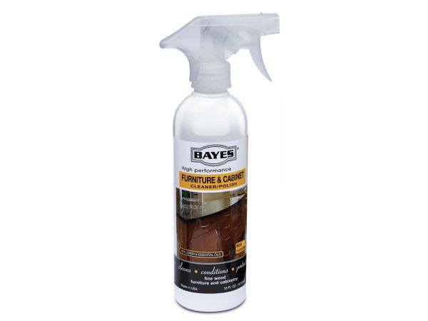 Bayes High-Performance Furniture, Cabinet Cleaner and Polish - Cleans, Conditions, and Preserves Fine Wood Furniture and Cabinetry