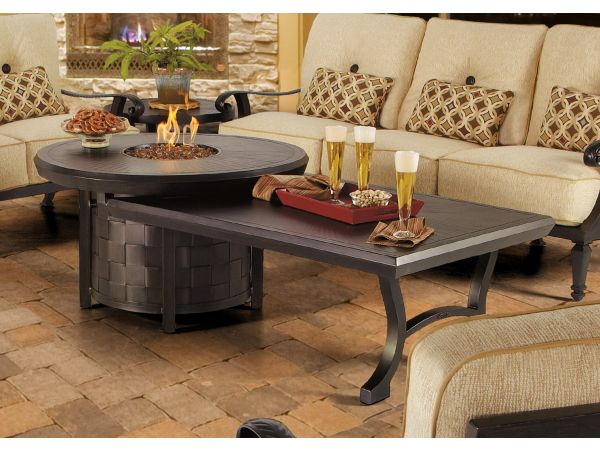 Castelle Fire Pit and Side Table by Pride Family Brands
