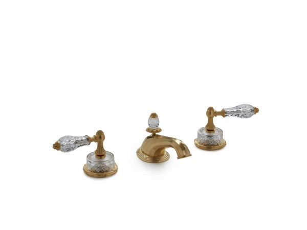Cut Crystal Empire Lever Faucet Set