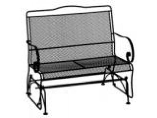 High Back Mesh Two Seat Glider