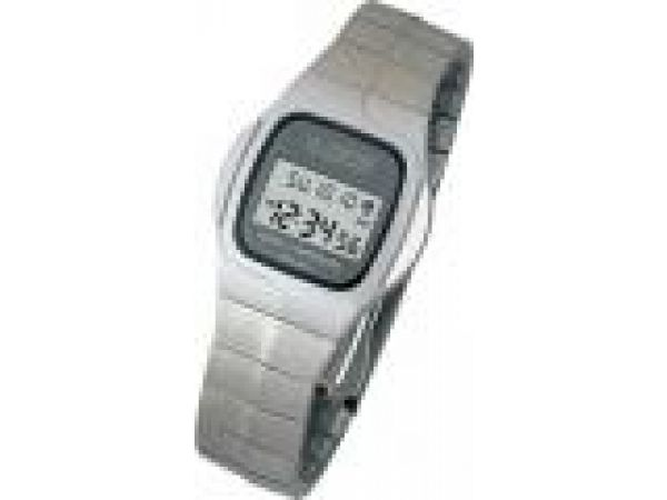 WT-961SAtomic Watch: Stainless Steel Butterfly Clasp