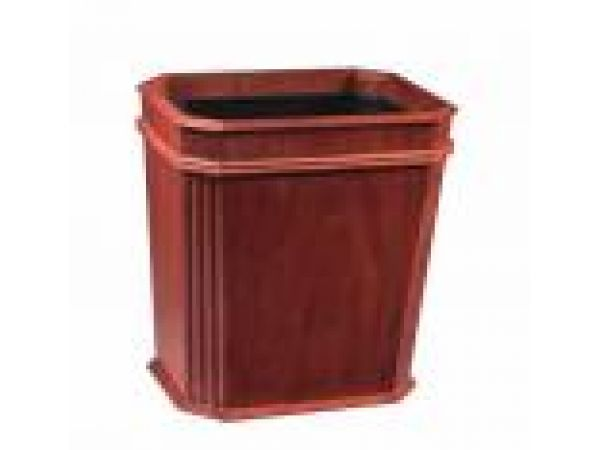 Fluted Wastebasket New Cherry w/insert OX
