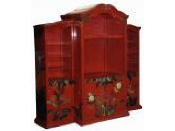 Armoire- Media Cabinet Venetian Red