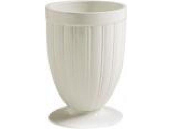 Ribbed Ceramic Vase