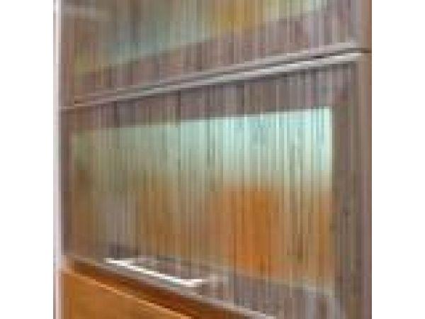 Aluminum Frame Cabinet Doors with Lumicor Inserts