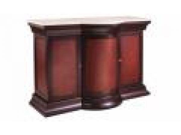 Bar w/Marble-Wood panel frnt