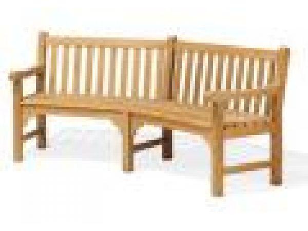 Essex 83 Inch Curved Bench