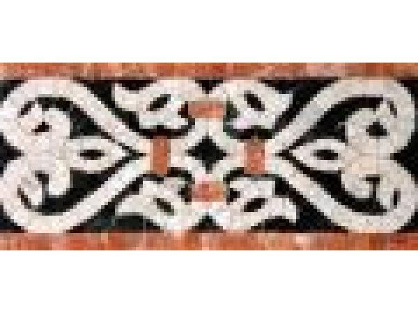 Stone Mosaics-5.5x11.5 French Harp 024