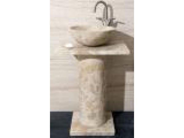 Emperador Light Marble Column Pedestal