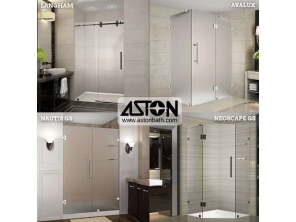 Aston Introduces New Oil Rubbed Bronze & Frosted Glass Collections of Its Completely Frameless Shower Portfolio