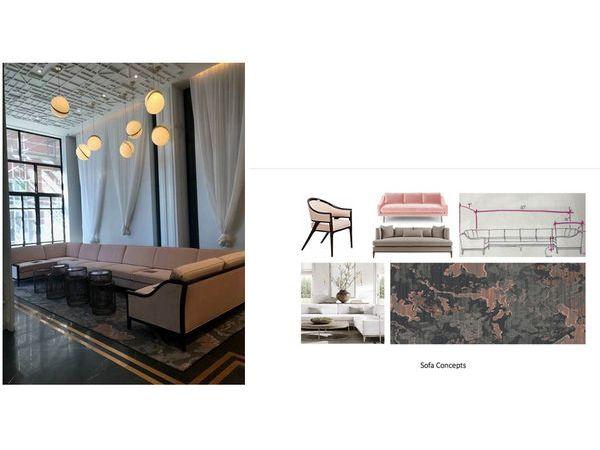 Custom 30\\\' Kate Spade inspired Sectional Sofa