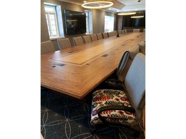 BK Barrit 36 Foot Custom Conference Table With Data and Electric!!