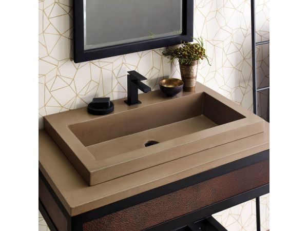 Native Trails Introduces the Trough 3019 NativeStone Bathroom Sink