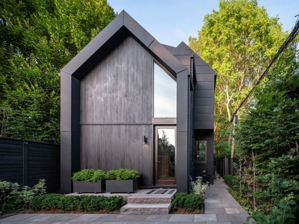 19th century carriage house transformed for 21st century living with RHEINZINK-GRANUM zinc roofing and wall cladding