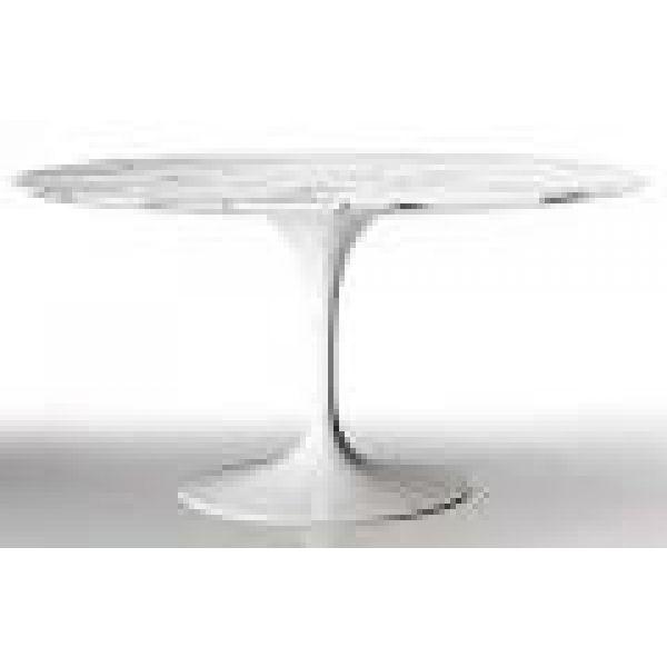 Saarinen Tulip Table 54 In Marble Loading Zoom Design Within Reach