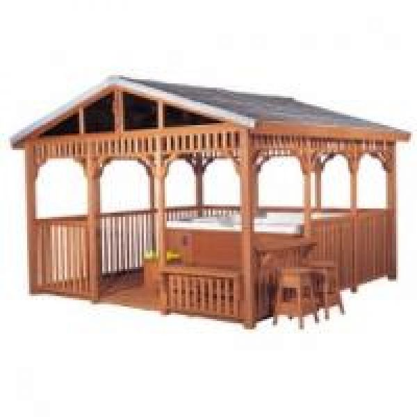 Design journal archinterious savannah gazebo by cal spas for Cal spa gazebo